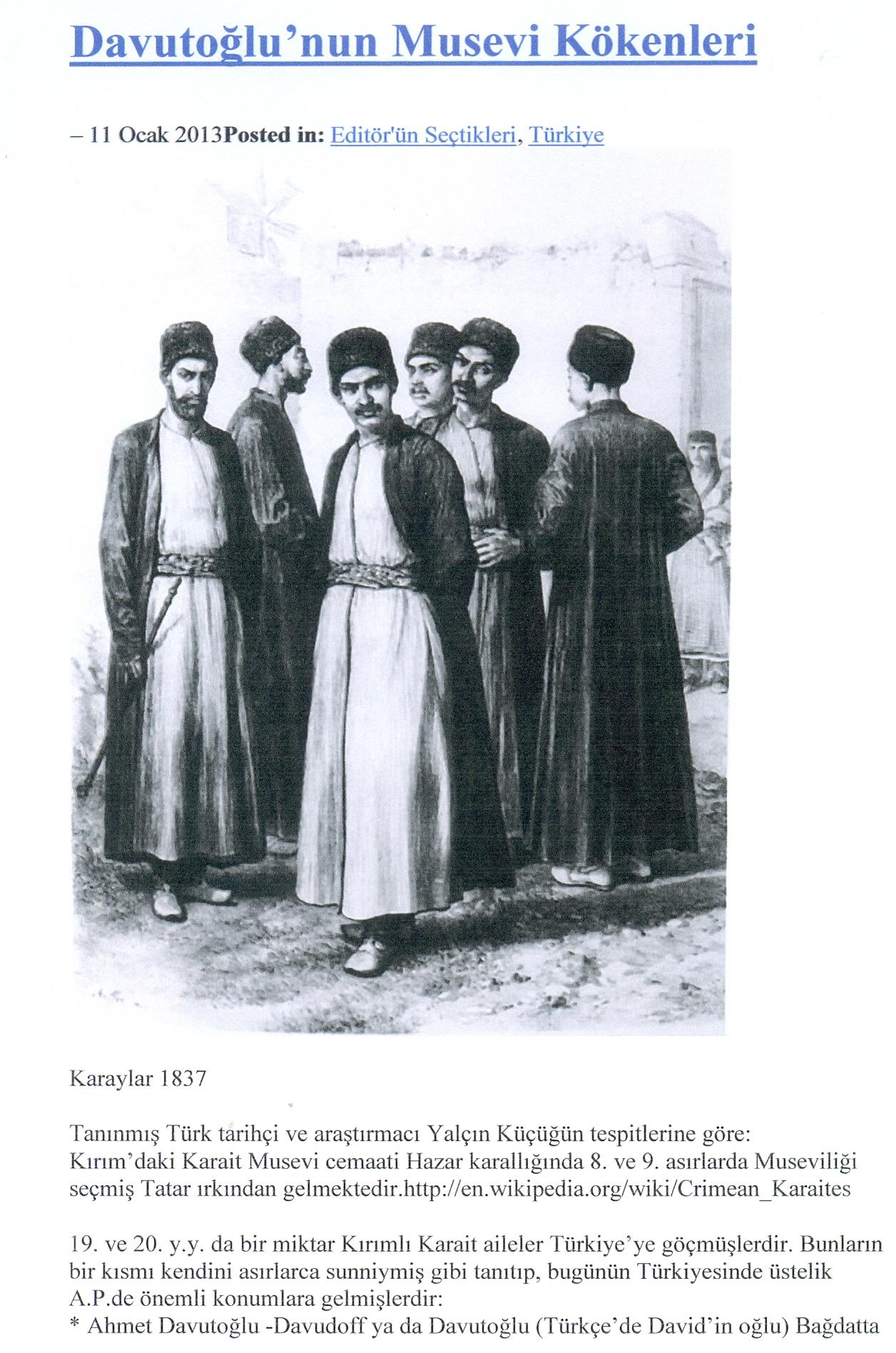 Ο ΑΧΜΕΤ ΝΤΑΒΟΥΤΟΛΓΟΥ ΚΑΙ ΤΟ ΜΥΣΤΗΡΙΟ ΤΩΝ ΕΒΡΑΙΩΝ  ΤΟΥ ΚΑΥΚΑΣΟΥ