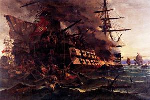 27 Μαΐου 1821 - Ἡ πυρπόληση τοῦ τουρκικοῦ δικρότου