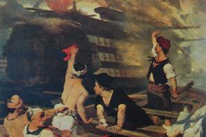 6 Ἰουνίου 1822 - Ἡ πυρπόληση τῆς τουρκικῆς ναυαρχίδας στήν Χίο
