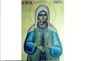 Βίος Αγίας Κόρης της εν Ολύμπω