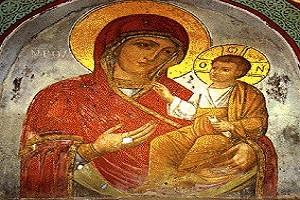 Εικόνα Παναγίας Αγίου Όρους 'ΠΥΡΟΒΟΛΗΘΕΙΣΑ' - Ιερά Μονή Βατοπεδίου Άγιον Όρος