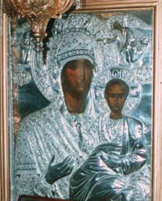Ἀσημένια Παναγία, εἰκὼν τέμπλου Ἱ. Μ. Βηθλεὲμ Κορωπίου Ἀττικῆς