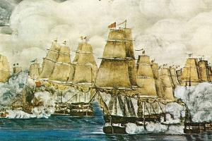 Ἡ ναυμαχία τῶν Σπετσῶν στίς 8 Σεπτεμβρίου 1822. Ο ελληνικός στόλος καταναυμαχεί 84 πλοία του Οθωμανικού στόλου