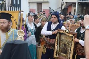 Λαμπρή Υποδοχή της Παναγίας Σουμελά στα Γιαννιτσά