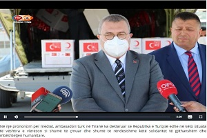 «Ακόμη και όταν ο κόσμος γυρίσει ανάποδα, η Τουρκία δεν θα σταματήσει να βοηθά την Αλβανία»