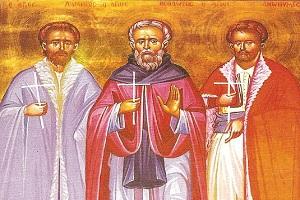 Οι Αγ. Νεομάρτυρες Θεόδωρος, Λάμπρος και Ανώνυμος, οι Βραχωρίτες