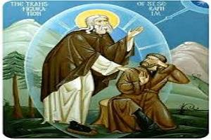 Η Μεταμόρφωση και Θαυματουργική Έλλαμψη του Προσώπου του Αγ. Σεραφείμ του Σάρωφ μπροστά στον Ν. Μοτοβίλωφ