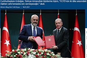 Ερντογάν: Η Αλβανία είναι αδελφική χώρα πολεμούσαμε μαζί επί αιώνες
