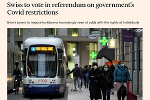 Δημοψήφισμα για τα περιοριστικά μέτρα στην Ελβετία