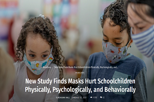 Nέα επιστημονική μελέτη: Η μάσκα βλάπτει τους μαθητές σωματικά, ψυχολογικά και συμπεριφορικά!