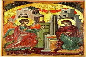 Ι.Μ. Βατοπαιδίου: Κανόνας του Ευαγγελισμού (Ήχος Δ΄, λέγετος) & Απολυτίκιον Εορτής