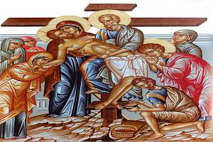 Ι.Μ Βατοπαιδίου: «Ο ευσχήμων Ιωσήφ…», «Ότε κατήλθες…», «Ταις μυροφόροις γυναιξί…», Ήχος Β΄