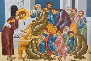 Ο Θεός έγινε δούλος, έπλυνε τα πόδια των μαθητών, έδινε την αγάπη Του