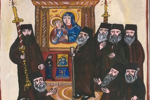 Οι Καρυές του Αγίου Όρους εορτάζουν την παράδοση του «Άξιον εστί» στον Αρχάγγελο Γαβριήλ