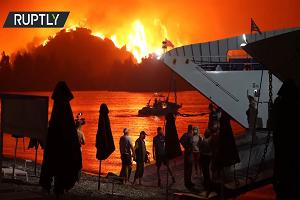 Βίντεο από την εκκένωση στην Εύβοια! Εικόνες που θυμίζουν προσφυγιά και πόλεμο!