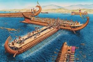 Αμεινίας ο Παλληνεύς: Ο Έλλην τριήραρχος που έριξε το πρώτο χτύπημα στην ναυμαχία της Σαλαμίνος εμβολίζοντας περσικό πλοίο.