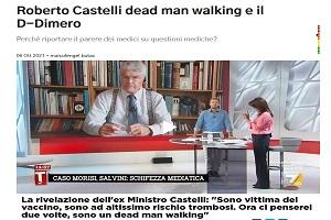 Roberto Castelli (τ. Υπουργός Δικαιοσύνης Ιταλίας): «Είμαι θύμα του εμβολίου. Νιώθω σαν νεκρός που περπατά»