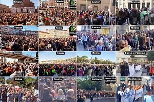 Ογκώδεις διαδηλώσεις στην Ιταλία κατά του υγειονομικού διαβατηρίου και των διακρίσεων