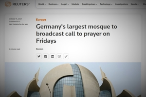 Mε μεγάφωνα θα καλούν τους μουσουλμάνους τα τεμένη της Κολονίας κάθε Παρασκευή!